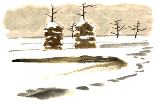 188雪に埋もれた田んぼ